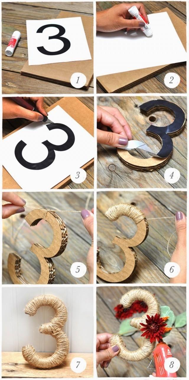 Cómo hacer una Bonita Numeración para Mesas. ~ MIS SECRETOS DE BODA