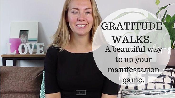 Up your manifestation game by going on a gratitude walk! Watch video here: http://www.susannepistoor.com/gratitude-walks/