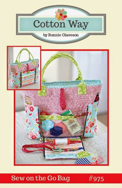 Cotton Way Project bag. Sooo cute!!! Pattern, cost is $9.00.