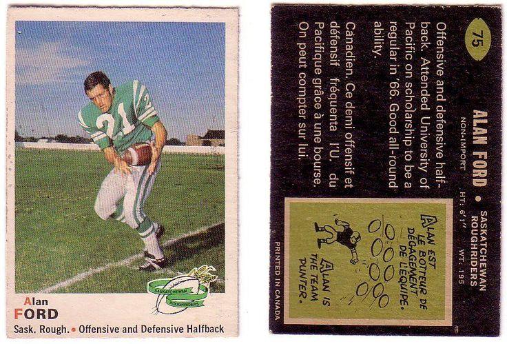 1970 OPC Alan Ford Card #SaskatchewanRoughriders University of Pacific #Riderpride