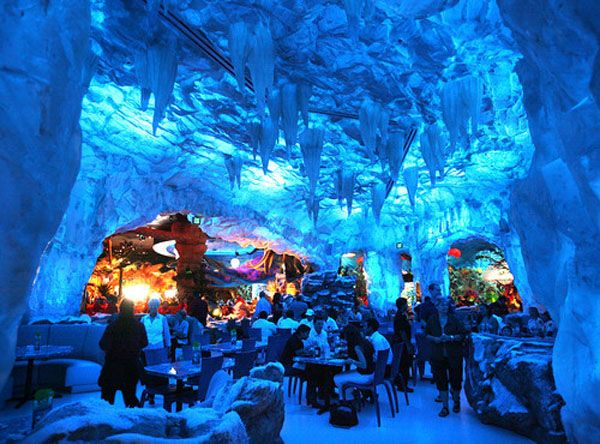 Restaurant made of ice interiors design restaurants for Disney dining reservations t rex