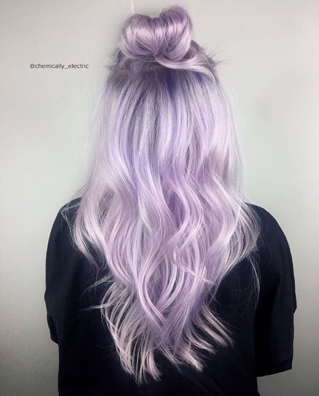 497 best hair color diy613a images on pinterest colourful hair vpinspiration in love with this purple top bun hairstyle by chemicallyelectric more solutioingenieria