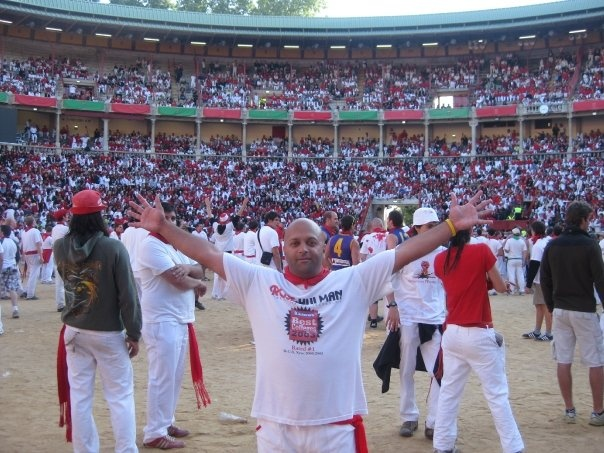 This was never on my bucket list until the day I arrived in Pamplona and saw a run. It made my list and I did the run the next day...I was about 5 feet from the bulls as they ran by. 2009