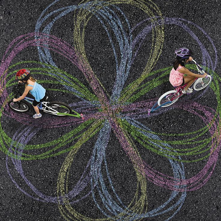 Create art while riding your bike.