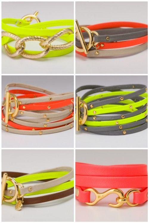 .Belts Bracelets, Fashion, Wraps Bracelets, Festivals Style, Neon Bracelets, Rainbows Bright, Neon Belts, Bangles, Neon Accent