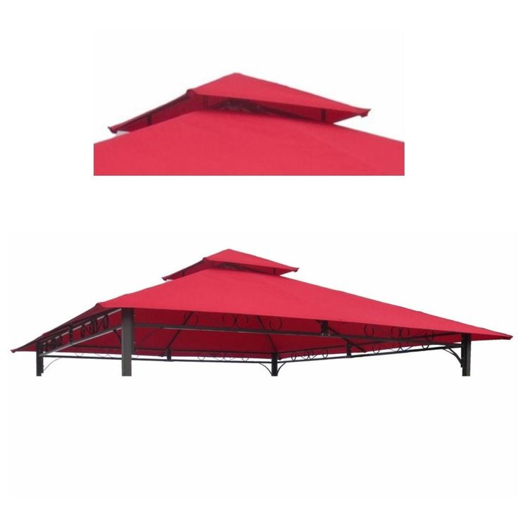 10x10 #Gazebo #Canopy Replacement #Cover Polyester 2 Tier Vent #Outdoor Garden Yard
