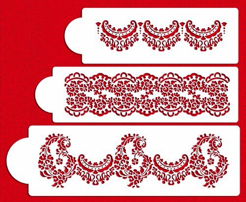 Designer Stencils C370 Alencon Lace Set Cake Stencil Beigesemitransparent ** Learn more by visiting the image link.