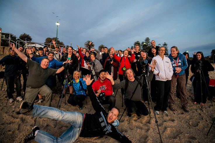 Here are the extremely happy and bright eyed attendees of the Bronte Beach Photowalk from August 2013.  It was a great morning and we were greeted by an amazing photography sunrise.  http://photographyhotspots.com.au/bronte-beach-photowalk-review-2013/  #photowalk #photo-walk #bronte