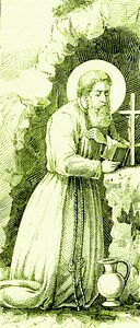 St. Conrad of Piacenza dwelt in Sicily for forty years in strict penance, sleeping on the bare ground with a stone for pillow, and with dry bread and raw herbs for food. God rewarded his great virtue by the gift of prophecy and the grace of miracles. #Catholic #Pray