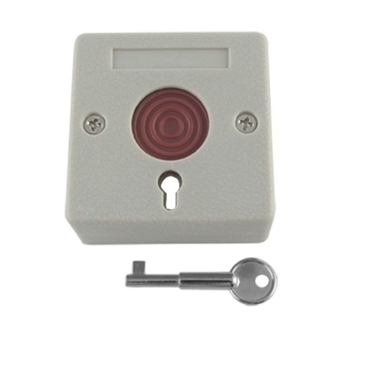 uxcell® DC 12V Square Home Office Emergency Panic Button Ash-colored
