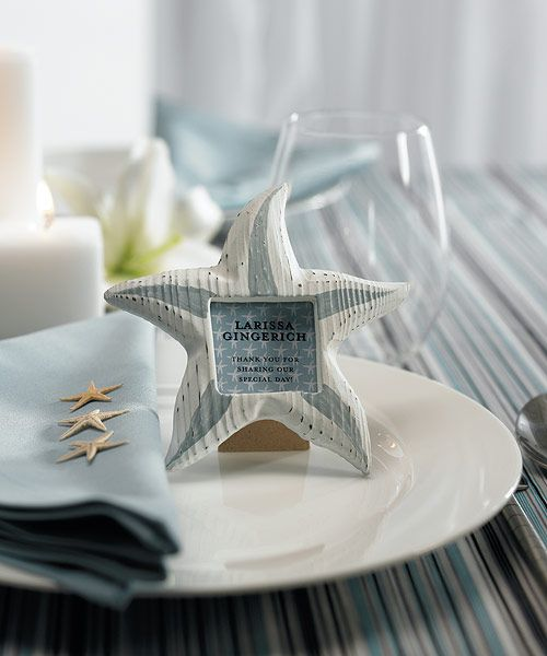 Beach Wedding Favors Starfish Favor Frames - Set of 8 $19.95