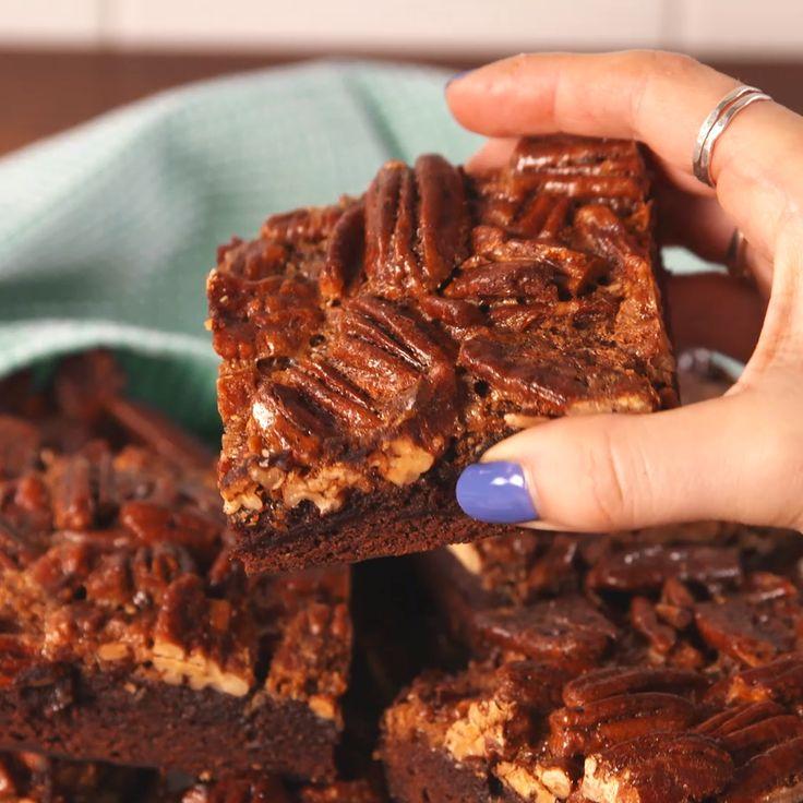 Brownies con topping de nueces vale la pena probarlos