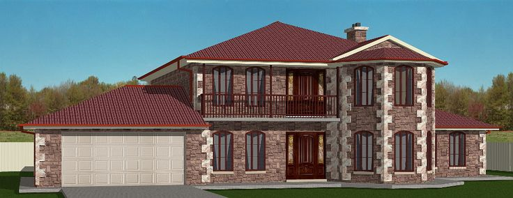 Winchester House - 3D model/rendering created by Garry Wilson using TurboFloorPlan 3D Home & Landscape Pro v16.