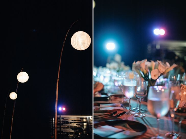 Alila Villas Uluwatu tables are prepared for Joyce & Raymond. | Courtesy of Isa Photography.