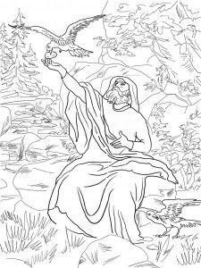 Вороны приносят пищу Илии. Библейские раскраски скачать с http://alla-kon.livejournal.com/