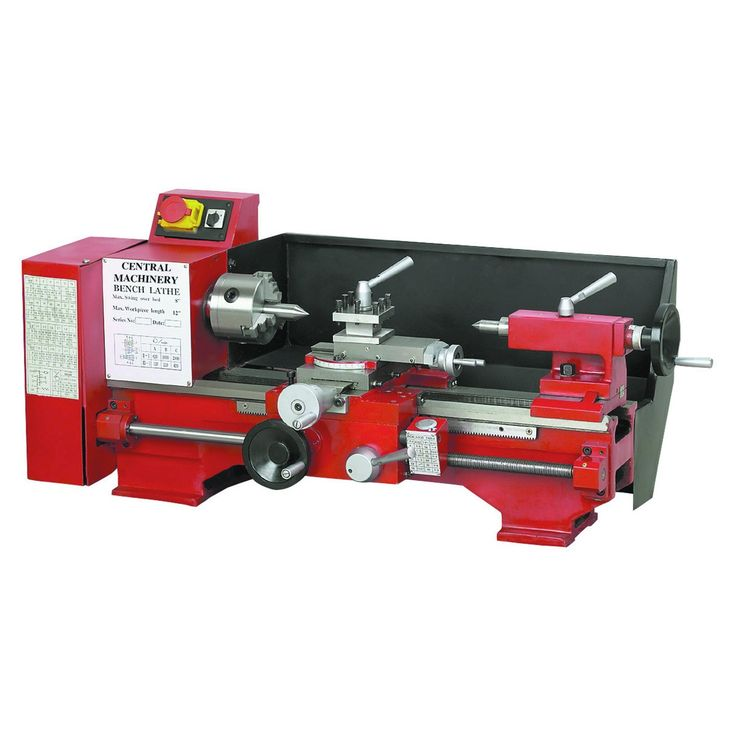 "Central-Machinery 44859 8"" x 12"" Precision Benchtop Lathe"