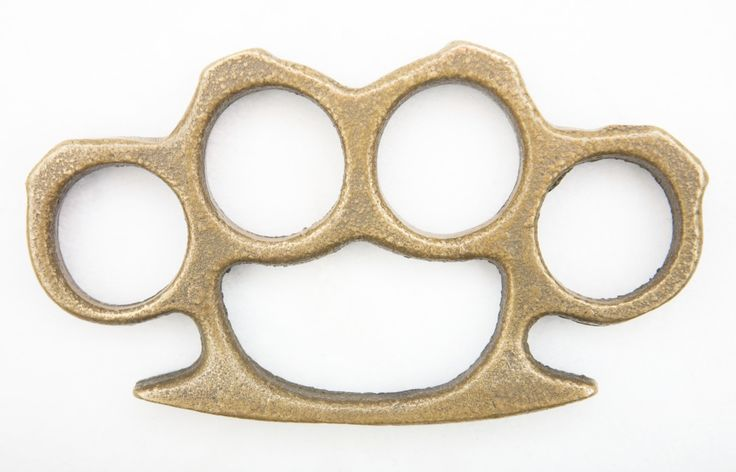 Apparently brass knuckles are illegal, so- you don't have them....