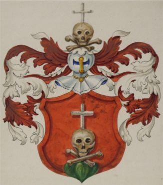 Familienwappen aus den genealogischen Registern der Stadt Schaffhausen, angelegt von Hans Wilhelm Harder (1810–1872), 9. Band (Sch) Familie Schweizer