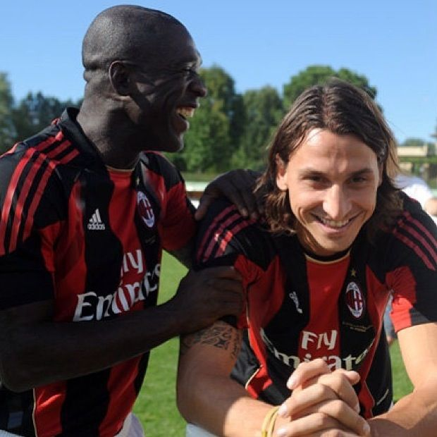 Seedorf and Zlatan Ibrahimovic AC Milan