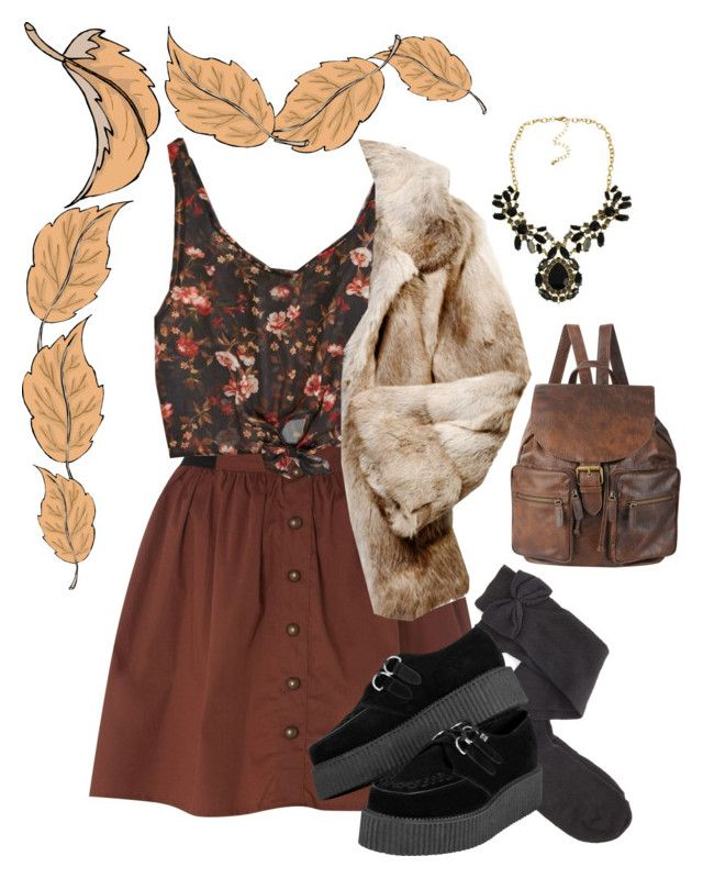 """""""Autumn look~"""" by mochineko ❤ liked on Polyvore featuring Vero Moda, American Eagle Outfitters, Charlotte Russe, Anya Hindmarch and Forever 21"""