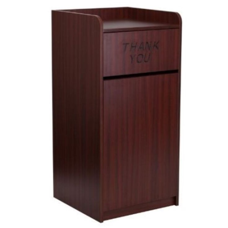 Commercial Trash Can Restaurant Tray Receptacle Waste Garbage Bin Mahogany New   Business & Industrial, Facility Maintenance & Safety, Facility Bathroom & Refuse   eBay!