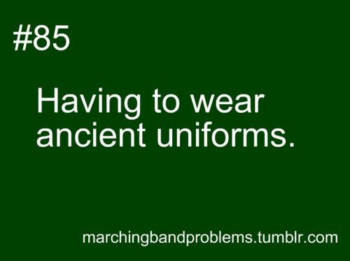Pretty much. This is the first season my schools had a band back for 12 years, and we use the old uniforms.