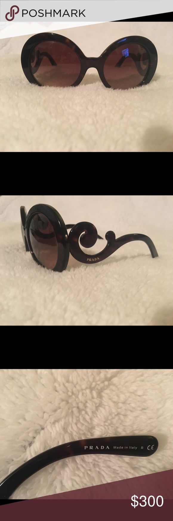 Authentic Prada Baroque sunglasses They are like new. Do not have receipt but comes with everyhing that the original purchase came with. Prada Accessories Sunglasses