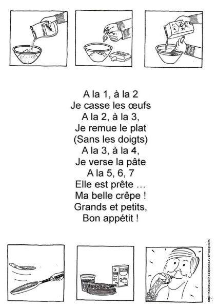 """.. Chandeleur .. """" poêle a crêpe et comptine recette des crêpes…"""