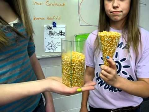 Demonstration Comparing the Formulas for the Volume of Cylinders and Con...
