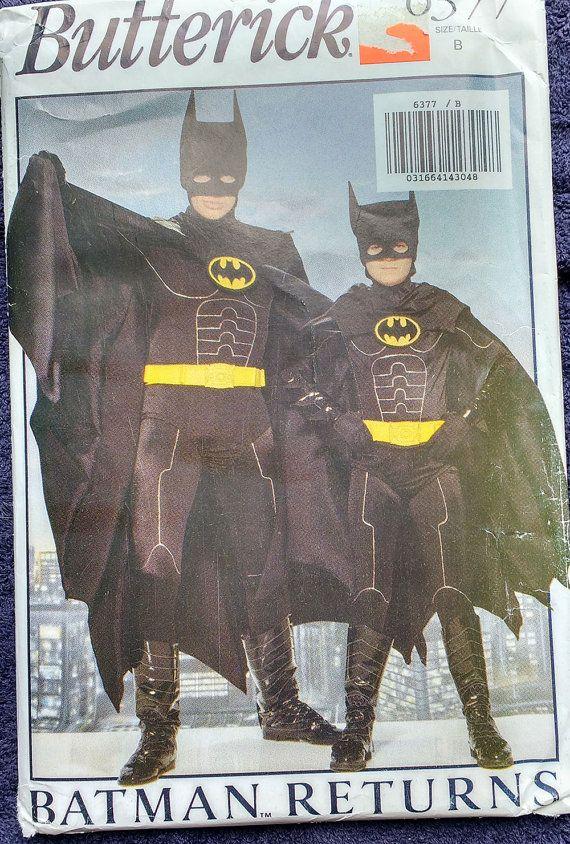 Butterick Childrens Batman Costume Pattern 6377 by TheHowlingHag