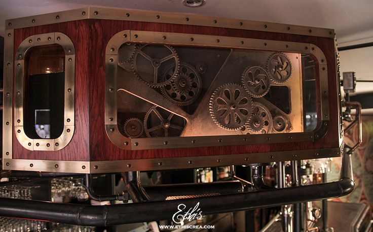 La mécanique des fluides, un bar steampunk | Ethis Crea
