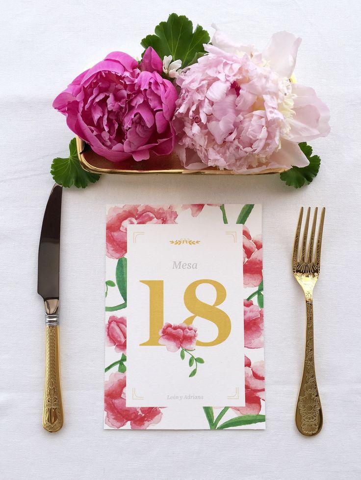 #meseros 'La Virginia' es la segunda colección de #papeleriadebodas de #Loveratory. Encierra la esencia de Andalucía alejándose de los tópicos. Flores, siesta, azahar, el rumor de una fuente, el blanco de las fachadas encaladas, el dorado del sol, la alegría, la calma, todo eso es 'La Virginia'. #weddingstationery #invitacionesdeboda2016 #invitacionesdeboda2017 #invitacionesdeboda  #weddingpaper  #goldandpink #weddingbranding #brandingddeboda #sobresforrados #invitacionesdeacuarela