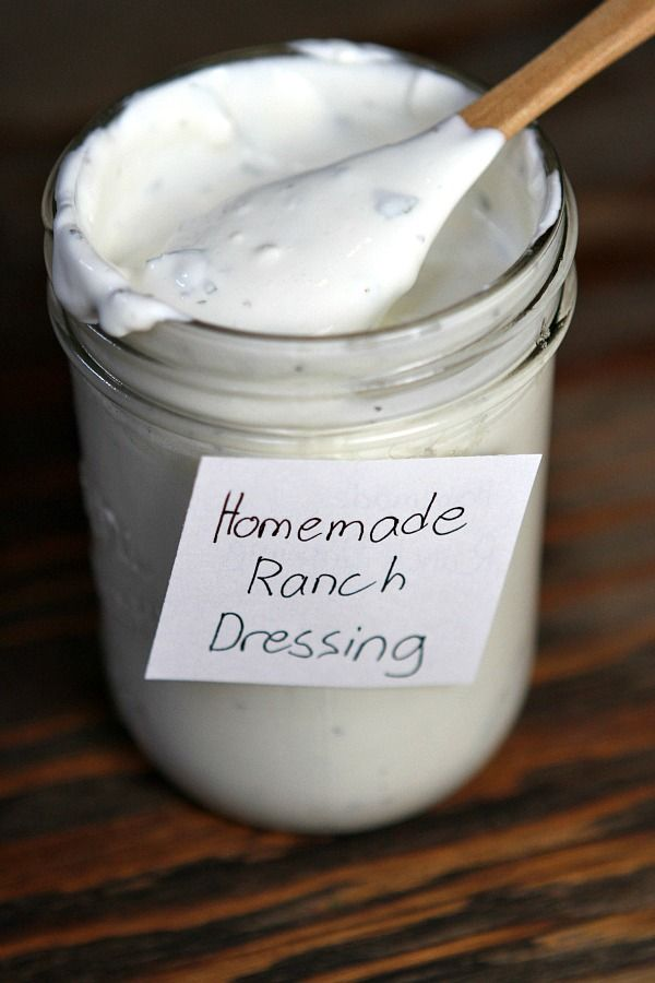 Easy Homemade Ranch Dressing Recipe : tastes just like the Ranch Dressing you're used to buying at the store, but so much better! from RecipeBoy.com