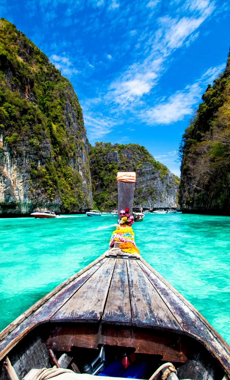 Traditional wooden boat, Koh Phi Phi Island, Thailand, Asia | 10 Idyllic Surreal Places that Make Thailand One of the Most Beautiful Countries in The World Like and Repin. Thx Noelito Flow. http://www.instagram.com/noelitoflow