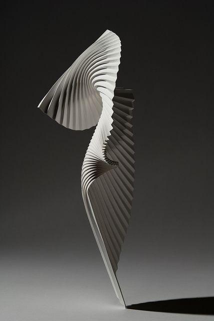 Pleated Paper Sculpture // Richard Sweeney #art