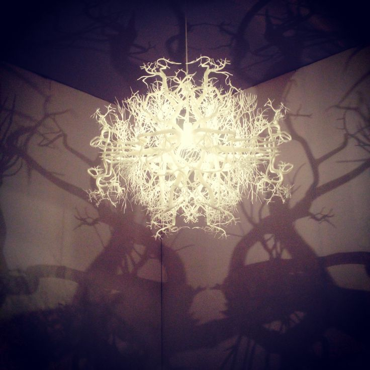 3-D printed chandelier by Hilden Diaz at Collective 2 Design Fair.