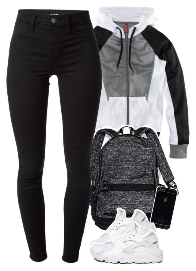 """""""hello"""" by daisym0nste ❤ liked on Polyvore featuring H&M, Victoria's Secret, J Brand and NIKE"""