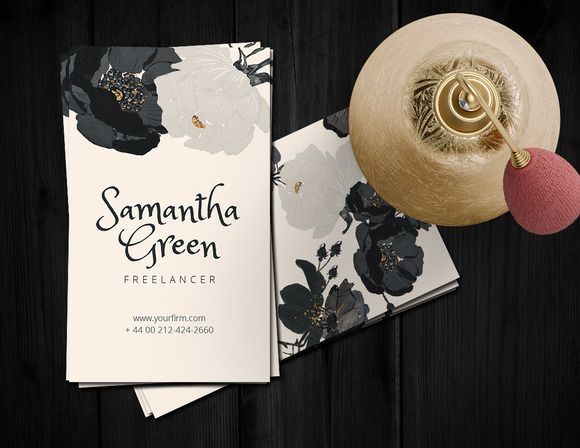 Roses Business card by Webvilla on @creativemarket