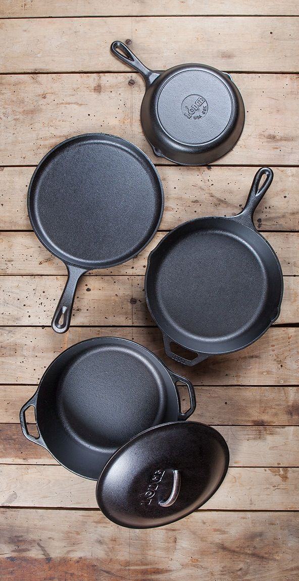 America's oldest cookware company—Lodge! Check out their 5-piece cast iron set…