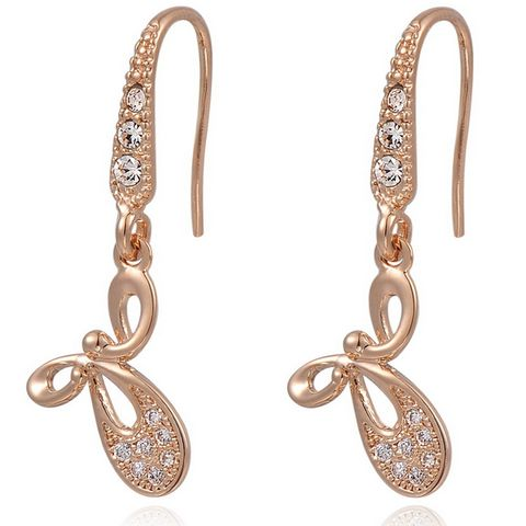Elegant Butterfly Drop Brincos With Austrian Crystal Stellux Earrings