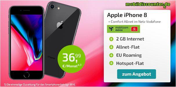 Ein ganz neues Design aus Glas. Apple iPhone 8 Plus 64GB mit Vertrag bestellen.