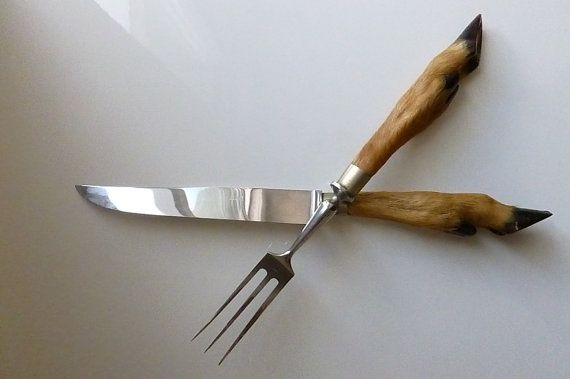 French Vintage Deer Hoof Carving Knife and by SouvenirsdeVoyages, $100.00