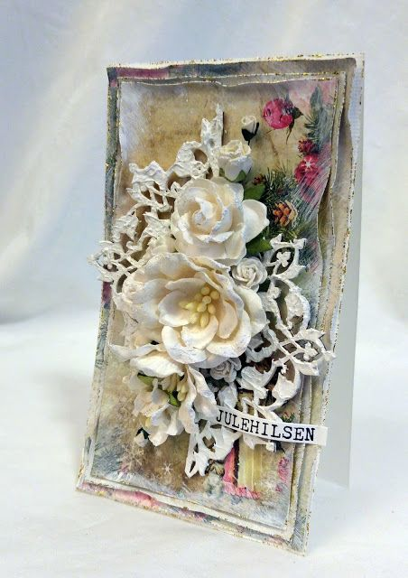 RANDI'S LILLE BLOGG - Christmas card with chipboard.