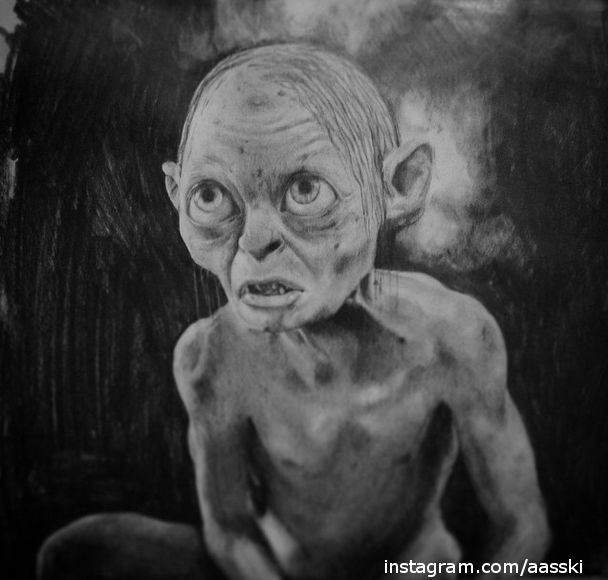 #sketch #hobbit #thehobbit #gollum #draw #drawing #drawings #paint #painting #paintings #art #arts #color #Tolkien #pencildraw #pencildrawing #pencilsketch #paintingdrawing #paper #pencil #A3