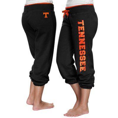 Tennessee Volunteers Ladies Glimmer Capri Pants - Black