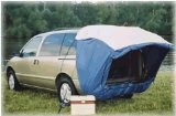 Explorer 2 SUV Tent - love it especially with a portable air conditioner - all you need is a folding cargo carrier on the back of your van to stay cool and extremely mobile in hot weather. Needs a little glam to make it perfect :-)