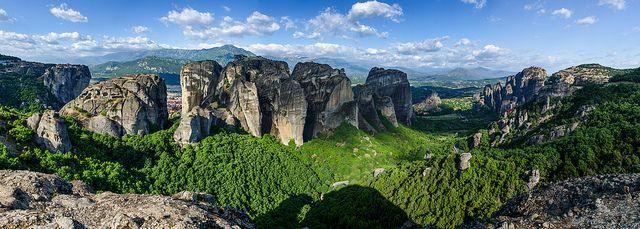 Panorama of Metéora Greece   Flickr - Photo Sharing!