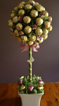 Fererro Rocher Topiary ~ lots of other lovely/cute edible gifts to drool over