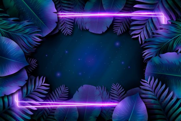 Download Purple Neon Frame With Leaves For Free Neon Wallpaper Neon Light Wallpaper Iphone Background Images
