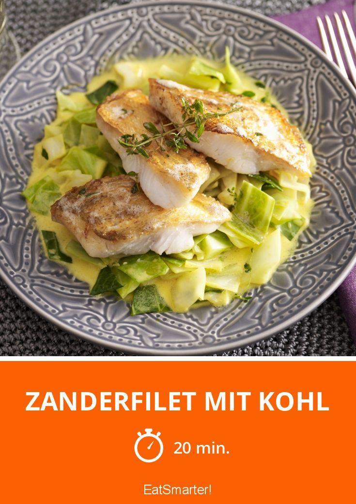 Zanderfilet mit Kohl   Perfekte Kombination von leckerem Gemüse und Fisch. Fertig in nur 20 Minuten.